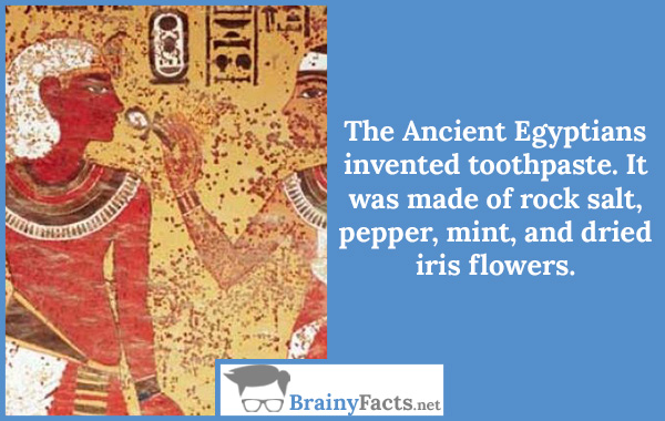 Egyptians invented toothpaste