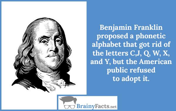 Benjamin Franklin alphabet