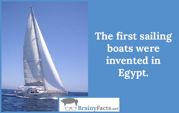 The first sailing boats