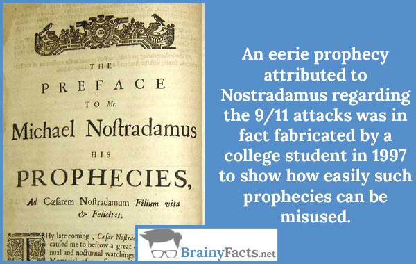 Nostradamus prophecy 9/11