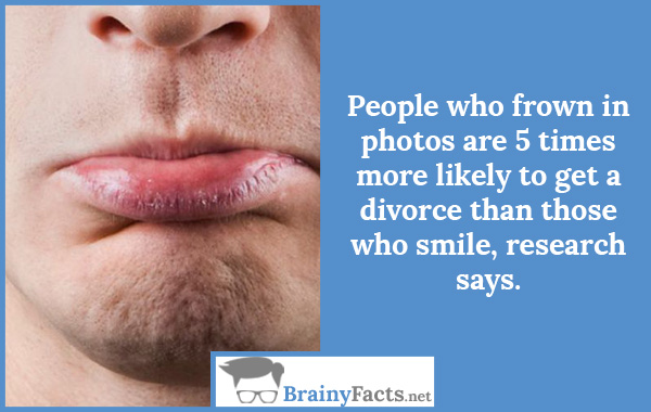 People who frown