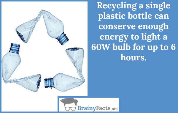 Recycling plastic bottle