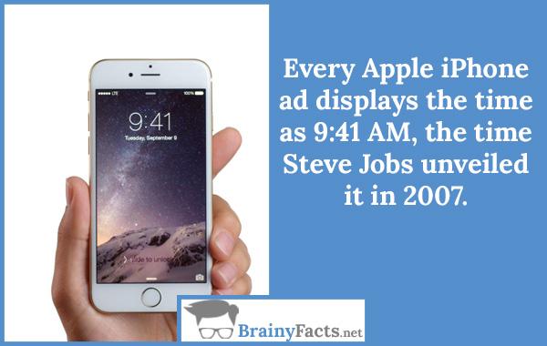 Apple iPhone ad displays..