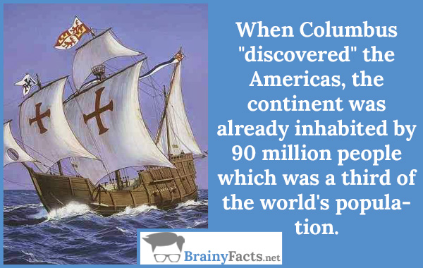 When Columbus..