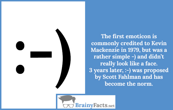 The first emoticon