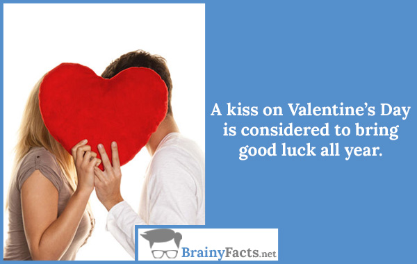 A kiss bring good luck