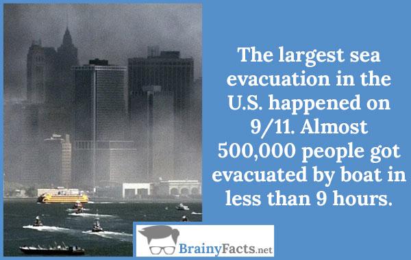 Largest sea evacuation