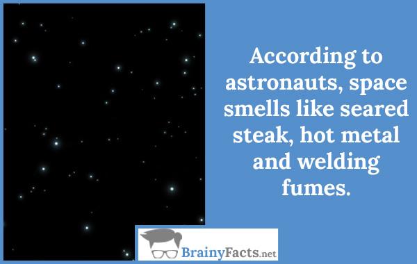 Space smells like..