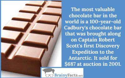 Valuable chocolate bar